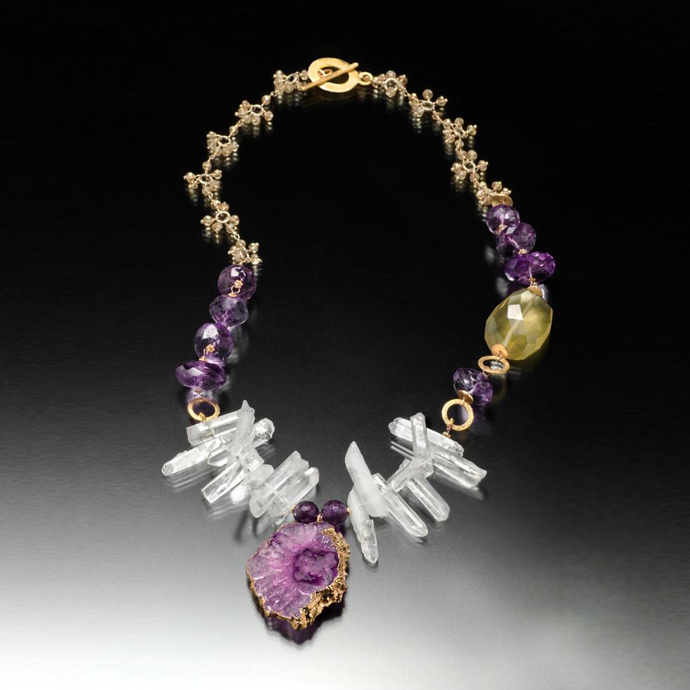 Purple Agate Necklace Jewelry By Renata